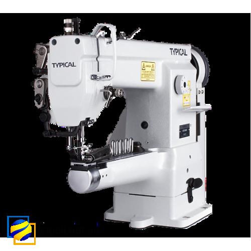 Окантовочная швейная машина Typical GC 2605 с рукавной платформой и тройным продвижением